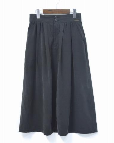 【中古】 HYSTERIC GLAMOUR WOMENS (ヒステリックグラマー ウイメンズ ウーマンズ) イージーロングSK スカート 16AW BLACK M ブラック EASY LONG SKIRT SILK シルクスカート LADY'S レディース WOMANS