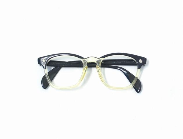 0aa323ee73d American Optical (American optical) Vintage 1950 s AO 2Tone Wellington  Eyeglasses vintage 2 tone Wellington eye glass BLACK black X キハク Sunglasses  ...