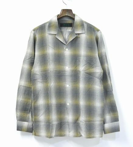 【新品】 HEALTH (ヘルス) FOG COLOR SHIRTS オンブレチェックシャツ Green L
