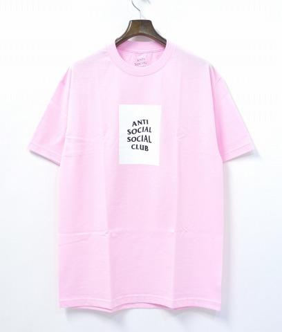 【新品】 ANTI SOCIAL SOCIAL CLUB (アンチソーシャルソーシャルクラブ) THE CLUB TEE クラブTシャツ 17SS PINK L ピンク LOGO T-SHIRTS ロゴ ASSC