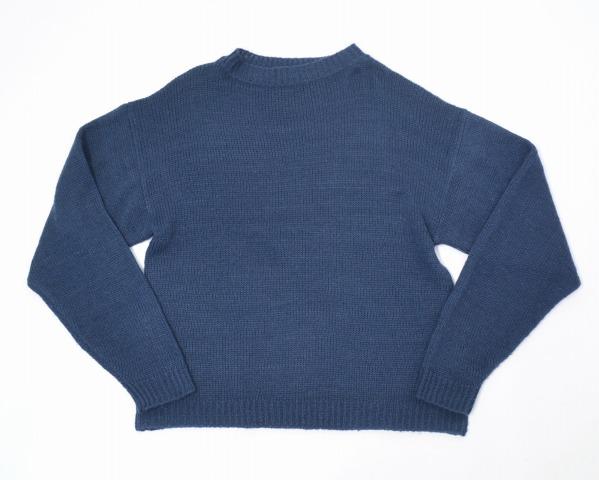 【中古】 LABRAT (ラブラット) straight edge mohair ストレートエッジモヘア M NAVY 15AW KNIT ニット セーター