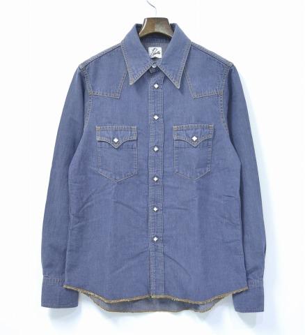 【中古】 Needles (ニードルズ) Cowboy Shirt - Single Peak Pocket カウボーイシャツ シングルピークポケット INDIGO M インディゴ Denim Western Shirts デニム ウエスタンシャツ Peaked ピークド Nepenthes ネペンテス ニードルス