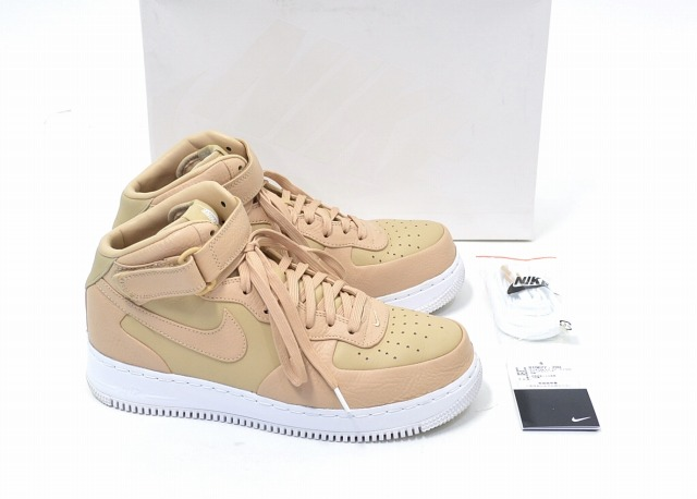 save off 58259 2fae7 NIKE LAB (Nike laboratory) AIR FORCE 1 MID Air Force One mid Vachetta  Tan/White US10 28.0cm バチェッタタン / white BEIGE beige LEATHER SNEAKERS leather  ...