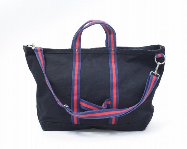 【中古】 ENGINEERED GARMENTS (エンジニアードガーメンツ) Webbing Tote Bag ウェビングトートバッグ Black ブラック 2way SHOULDER ショルダーバッグ 鞄 カバン