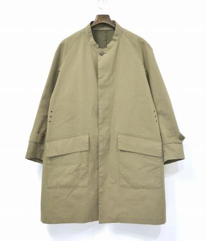【中古】 Needles (ニードルズ) Gallup Coat - Cotton Poplin Bonding Cloth ギャラップコート コットンポプリンボンディングクロス 16SS Tan M タン Riding ライディング Long ロング Nepenthes ネペンテス ニードルス