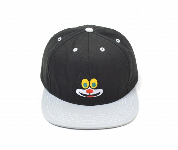 【中古】 SUPREME (シュプリーム) 2-TONE MAD CAT CAP 2トーンマッドキャットキャップ FREE BLACK×GREY 15AW BASE BALL CAP B.B CAP キャップ 帽子 6PANEL 6パネル SNAPBACK スナップバック MADE IN USA アメリカ製