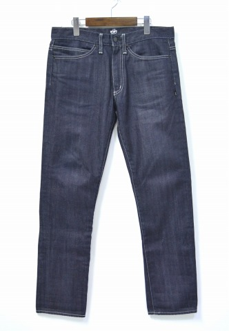 【中古】 WTAPS (ダブルタップス) BLUES. SKINNY. TROUSERS. COTTON. DENIM. RAW 5ポケットデニムパンツ L INDIGO PANTS