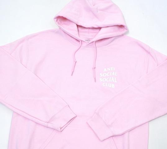 7c3da9d8d18f ANTI SOCIAL SOCIAL CLUB (antisocial social club) Know you better Hoodie  ノーユーベターフーディー L L.PINK 17SS full logo print pullover parka