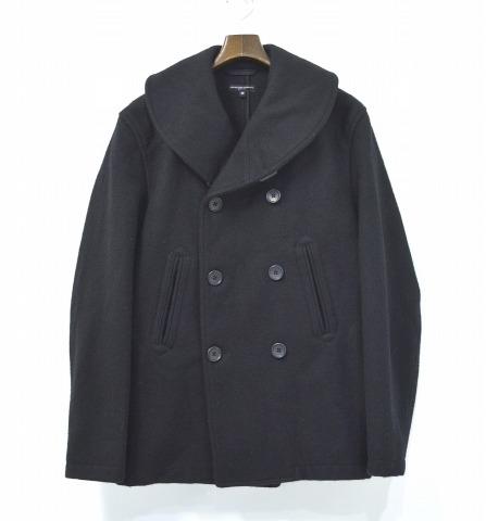 【中古】 ENGINEERED GARMENTS (エンジニアードガーメンツ) Pea Jacket - 32oz Melton ピージャケット 32オンスメルトン Black M ブラック Pea Coat Pコート Shawl Collar ショールカラー Double Breasted ダブルブレスト