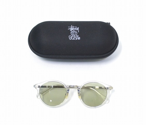 STUSSY (ステューシー) Arthur Clear Brush Silver X Lt.Green 17SS STUSSY EYEGEAR ステューシーアイギア SUNGLASSES sunglasses glasses glasses