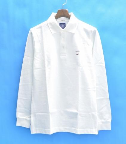 【新品】 J.PRESS (ジェイプレス) 長袖ポロシャツ M WHITE J.PRESS ORIGINALS オリジナルス POLO SHIRT