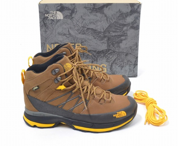 804f47917 THE NORTH FACE (the North Face) WERCK MID GTX trekking shoes Rare Earth  Brown/TNF Yellow US9 27.0cm brown / yellow GORE-TEX Gore-Tex TREKKING SHOES  ...