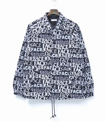 【新品】 FACETASM (ファセッタズム) Monogram Coach Jacket モノグラムコーチジャケット BLACK×WHITE S 総柄