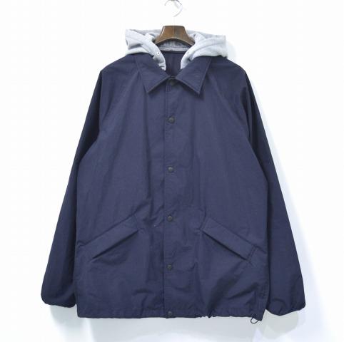 【中古】 Mountain Research (マウンテンリサーチ) Pack JKT パックジャケット XL NAVY 17AW MTR-2291 COACH JACKET コーチジャケット