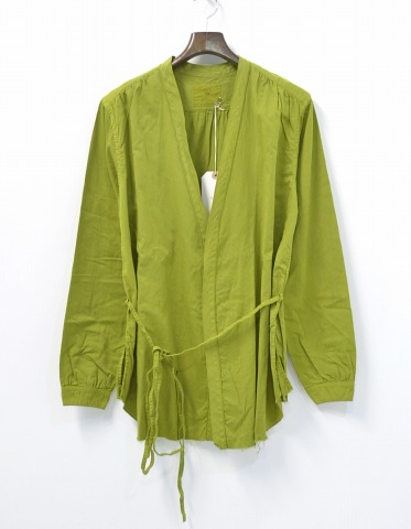 【新品】 bukht (ブフト) MONK SHIRT モンクシャツ ACHROMA LIMITED 長袖シャツ L/S 1(S) SOPHORA 羽織 GREEN ブラウス