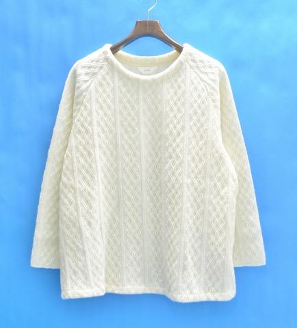 【新品】 THEE (シー) FISHERMAN KNIT フィッシャーマンニット FREE WHITE 15AW セーター