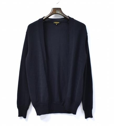 【中古】 A Vontade (ア ボンタージ) No Button Knit Cardigan ノーボタンニットカーディガン S BLACK 17SS 長袖
