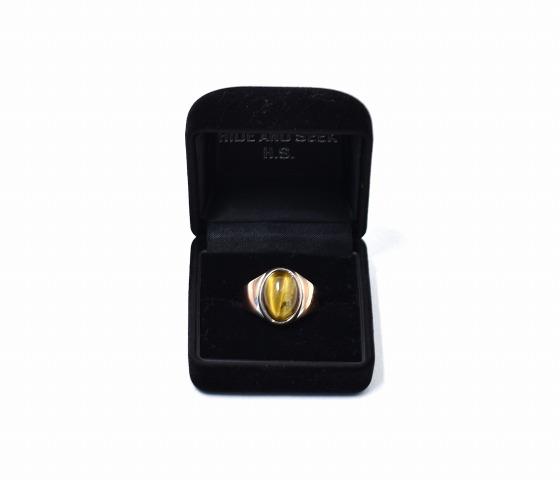 【中古】 Hide and Seek (ハイドアンドシーク) HS Stone Ring (Tiger's Eye) タイガーズアイリング 15AW M (13号) SV925 Silver925 シルバー925 指輪 アクセサリー ストーン 虎目石 虎眼石 HIDE&SEEK H&S