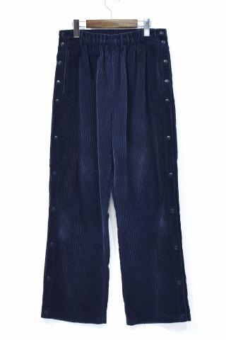 【中古】 UNUSED (アンユーズド) Corduroy Pants コーデュロイパンツ 3 NAVY 17AW UW0594 イージーパンツ