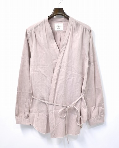 【新品】 bukht (ブフト) MONK SHIRT モンクシャツ 2(M) PINK BE-852205 長袖シャツ GOWN ガウン カーディガン