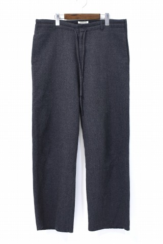 【中古】 AURALEE (オーラリー) SELVEDGE WOOL VIYELLA PANTS セルビッチウール ビエラパンツ 17AW 4 Charcoal Grray チャコールグレー A7AP02SV EASY イージー Slacks スラックス Trousers トラウザーズ Wide ワイドシルエット SUPER140's セルヴィッチ 耳 ヴィエラ