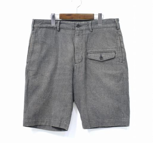【中古】 ENGINEERED GARMENTS (エンジニアードガーメンツ) Ghurka Short - Oxford Suiting グルカショーツ オックスフォード 34 Charcoal チャコール Half Pants ハーフ ショートパンツ Military Trousers ミリタリー トラウザーズ