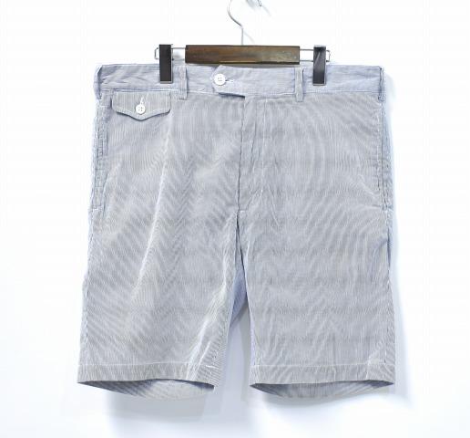 【中古】 ENGINEERED GARMENTS (エンジニアードガーメンツ) Cambridge Short - Cordlane ケンブリッジショーツ コードレーン 34 Blue ブルー Half Pants ハーフ ショートパンツ St. Stripe ストライプ Seersucker シアサッカー Trousers トラウザーズ Slacks スラックス