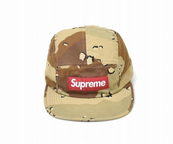【中古】 SUPREME (シュプリーム) Washed Chino Twill Camp Cap ウォッシュドチノツイルキャンプキャップ FREE DESERT CAMO 17AW BOX LOGO ボックスロゴ 帽子 5PANEL 5パネル MADE IN USA アメリカ製