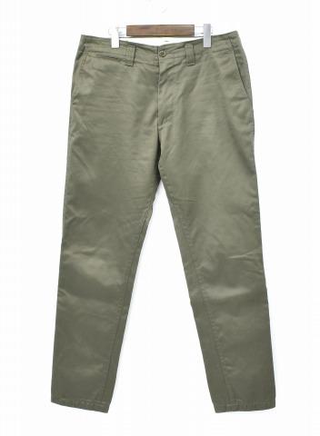 【中古】 nanamica (ナナミカ) Tapered Chino Pants テーパードチノパンツ 17AW 34 OLIVE オリーブ KHAKI カーキ 5-Pocket 5ポケット Trousers トラウザーズ ガゼット