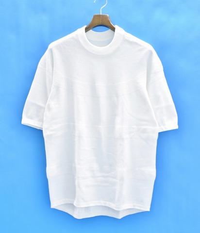 【中古】 nanamica (ナナミカ) ATHLETIC JERSEY アスレチックジャージー M WHITE 17SS KNIT TEE ニットTシャツ