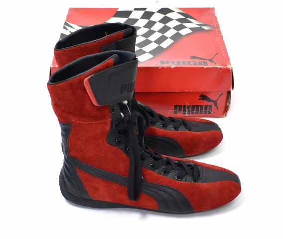 929637249027 PUMA (Puma) STEILKURVE-style curve US8 26cm RED X BLACK PX2222 driving shoes  sneakers shoes higher frequency elimination