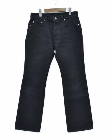 【中古】 IRON HEART (アイアンハート) 21oz REAL BLACK EXTRA HEAVY DENIM 黒鎧 21オンスリアルブラックエクストラヘビーデニムパンツ 32 BLACK ブーツカット PANTS