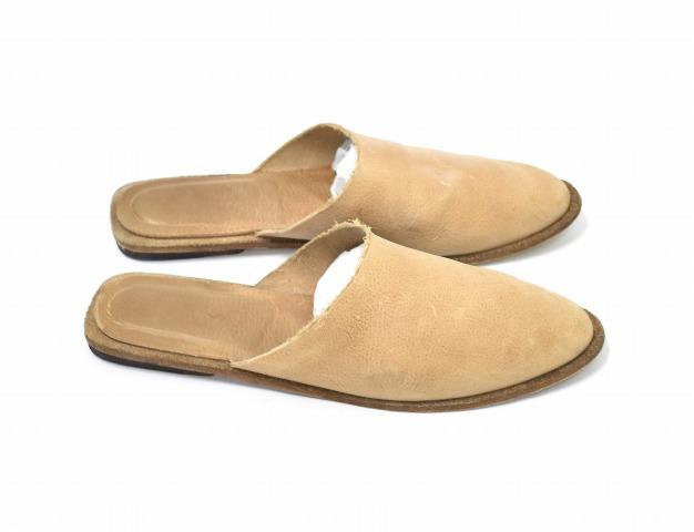 【中古】 PETRUCHA (ペトルーシャ) GRETA レザーサンダル 42 NOUGAT ベージュ LEATHER SANDALS スリッポン シューズ SLIP ON SHOES サボ クロッグ 革 靴