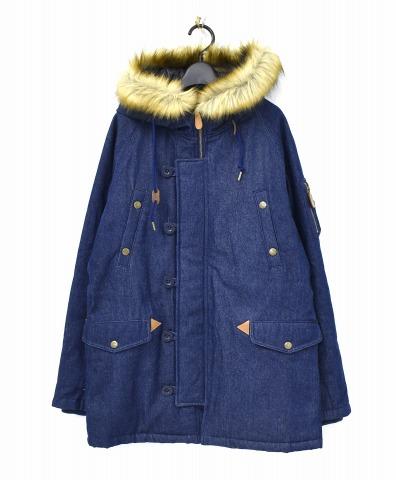 【中古】 X-girl (エックスガール) N-3B JACKET N-3Bジャケット 2 INDIGO 05154503 DENIM デニム ファー 中綿
