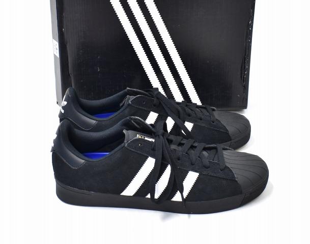 【新品】 adidas skateboarding (アディダススケートボーディング) SUPERSTAR VULC ADV スーパースターバルカアドバンス US10.5 28.5cm BLACK×WHITE AQ6861 adidas Originals アディダスオリジナルス SB スケボー スケーター スニーカー シューズ 靴