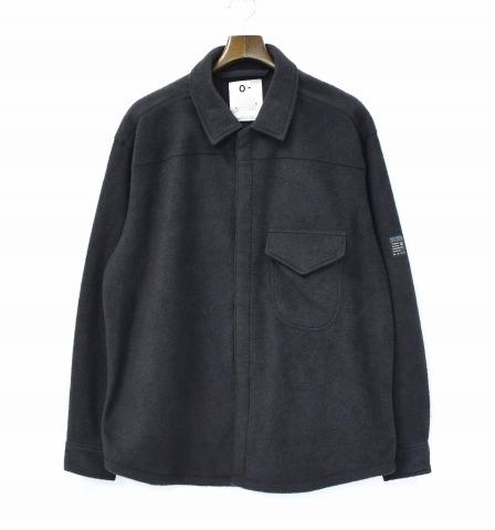 【美中古】 O- (オー) FLEECE HIGH NECK SHIRT フリースハイネックシャツ L BLACK O-W-12 0-CHO-RUI.LAB レイチョウルイラボ 長袖 【中古】