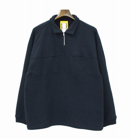 【中古】 NOROLL (ノーロール) SHORE H/Z SWEATSHIRT ハーフジップスウェットシャツ ONE SIZE BLACK 長袖
