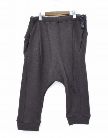 【新品】 Lien (リアン) wool jersey sarouel cropped ウールジャージーサルエルクロップドパンツ 46 GREY 41-P50