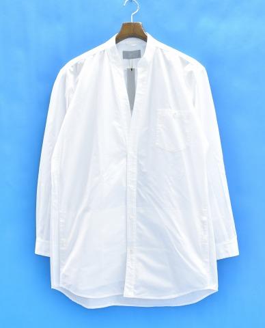 【新品同様】【訳あり】 juha (ユハ) SKIPPER LONG SHIRTS-BROAD スキッパーロングシャツ ブロード 2 WHITE 17SS 10050702-1 長袖 【中古】