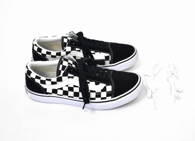 231193fb612 VANS (station wagons) V36CL+ OLD SKOOL DX old school US9 27.0cm BLACK WHITE  CHECK black   white check CHECKERBOARD checkerboard flag SNEAKERS sneakers  ...