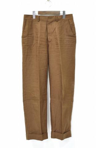 【中古】 AURALEE (オーラリー) LINEN GABARDINE SLACKS リネンギャバジンスラックス 4 BROWN 18SS A8SP03LG PANTS パンツ