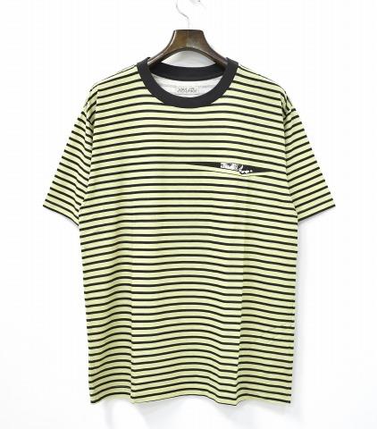 【新品】 HEALTH (ヘルス) PEEP BORDER TEE 覗き見ボーダーTシャツ L GREEN×BLACK 18SS HT18-008 半袖 T-SHIRT