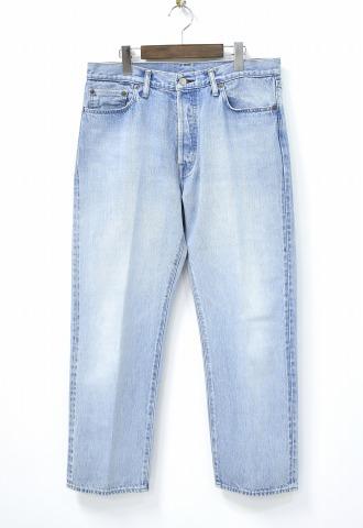【中古】 UNUSED (アンユーズド) UW0658 Denim Pants Short Length 5ポケットデニムパンツ 3 INDIGO 18SS JEANS ジーンズ BIO BLEACH バイオブリーチ加工 セルビッチ