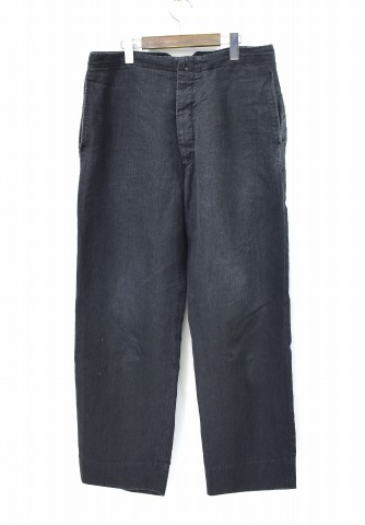 【中古】 COMOLI (コモリ) ラミーリネンバックストラップパンツ 3 CHARCOAL 18SS M01-03008 LINEN PANTS