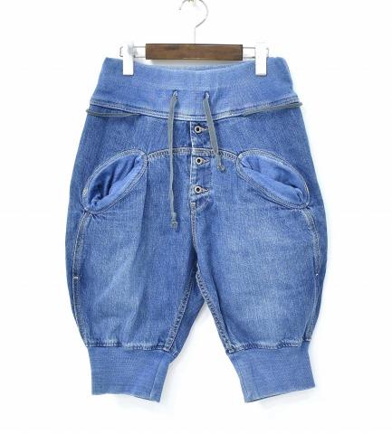 【中古】 KAPITAL (キャピタル) 12ozデニムサルエルヌーベルショートパンツ S INDIGO EK-358 SHORT PANTS ショーツ EASY PANTS イージーパンツ