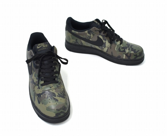 NIKE (Nike) AIR FORCE 1 '07 LV8 air force 1 US11 29cm MEDIUM OLIVE X BLACK BLACK 718,152 203 REFLECTIVE CAMO reflective duck camouflage pattern