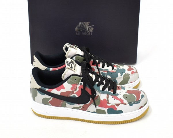 timeless design 63945 3b692 NIKE (Nike) AIR FORCE 1  07 LV8 air force 1 US11 29cm STRING BLACK-WHITE-GUM  LIGHT BROWN 718,152-201 REFLECTIVE CAMO reflective duck duck hunting  camouflage ...