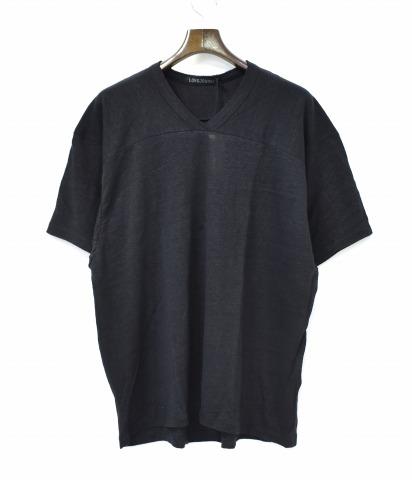 【新品】 LONG JOURNEY (ロングジャーニー) FOOTBALL S/S TEE フットボールTシャツ S BLACK LJS1804 FBALL S/SLEEVE T-SHIRT ショートスリーブ 半袖 V-NECK Vネック