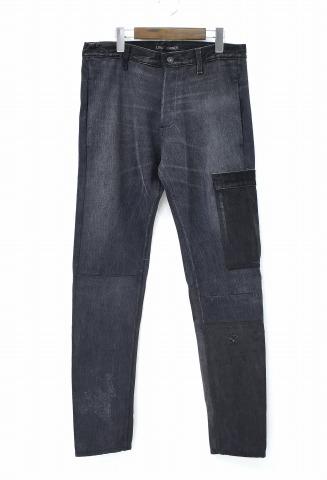 【新品】 LONG JOURNEY (ロングジャーニー) T2 UTILITY JEANS T2ユーティリティージーンズ M BLACK LJFW1701 REMAKE DENIM PANTS リメイク デニム パンツ 再構築