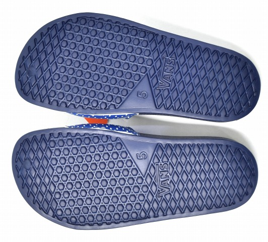 b489a996275d FDMTL X VANS (fundamental X station wagons) PATCHWORK SANDAL patchwork  sandals US5 23cm NAVY 18SS V7588FDMTL shower sandals VANS for FDMTL